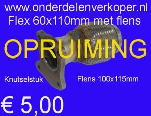 Flexibel deel 60mmx110mm uitlaat hobby knutsel stuk (8)