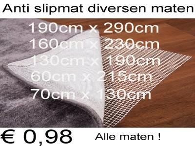 Vloerkleed anti slipmat diversen maten € 1,98