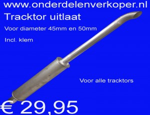 Tracktor trekker uitlaat voor 45mm en 50mm doorsnee